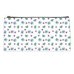 White Milk Hearts Pencil Cases by snowwhitegirl