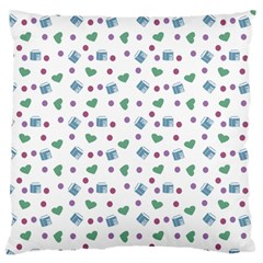 White Milk Hearts Large Cushion Case (one Side) by snowwhitegirl