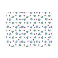 White Milk Hearts Double Sided Flano Blanket (mini)