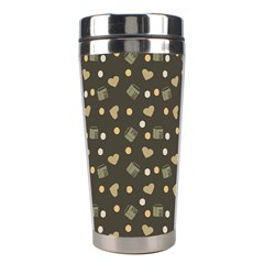 Charcoal Grey  Milk Hearts Stainless Steel Travel Tumblers by snowwhitegirl