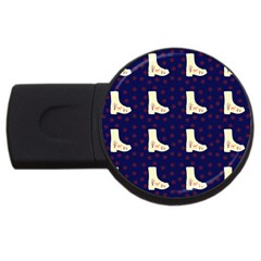 Navy Boots Usb Flash Drive Round (2 Gb)