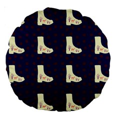 Navy Boots Large 18  Premium Round Cushions by snowwhitegirl