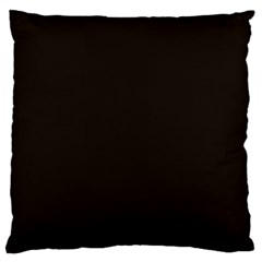 Dark Brown Large Cushion Case (two Sides) by snowwhitegirl