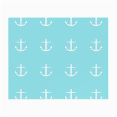 Aqua Anchor Small Glasses Cloth (2 Side) by snowwhitegirl