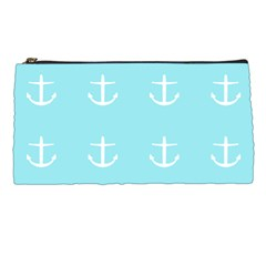 Aqua Anchor Pencil Cases by snowwhitegirl
