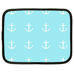 Aqua Anchor Netbook Case (xxl) by snowwhitegirl