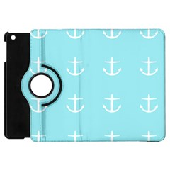 Aqua Anchor Apple Ipad Mini Flip 360 Case by snowwhitegirl