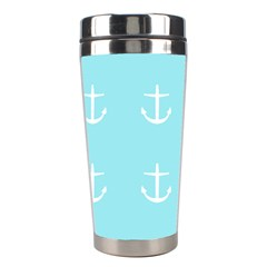 Aqua Anchor Stainless Steel Travel Tumblers by snowwhitegirl