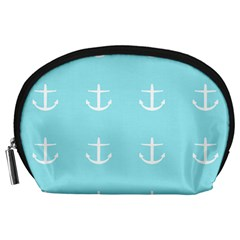 Aqua Anchor Accessory Pouches (large)  by snowwhitegirl