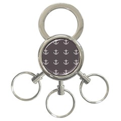 Grey Anchors 3 Ring Key Chains by snowwhitegirl