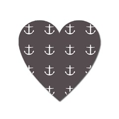 Grey Anchors Heart Magnet by snowwhitegirl