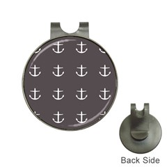 Grey Anchors Hat Clips With Golf Markers by snowwhitegirl