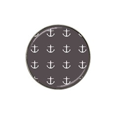 Grey Anchors Hat Clip Ball Marker (10 Pack)