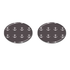 Grey Anchors Cufflinks (oval) by snowwhitegirl