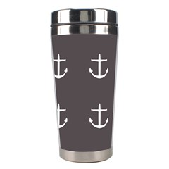 Grey Anchors Stainless Steel Travel Tumblers by snowwhitegirl