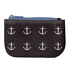 Grey Anchors Large Coin Purse by snowwhitegirl