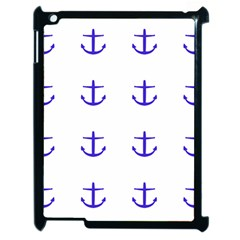 Royal Anchors On White Apple Ipad 2 Case (black)