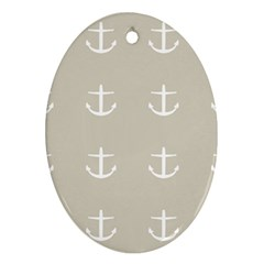 Lt Grey Anchors Ornament (oval) by snowwhitegirl