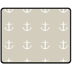 Lt Grey Anchors Fleece Blanket (medium)  by snowwhitegirl