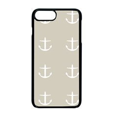 Lt Grey Anchors Apple Iphone 7 Plus Seamless Case (black)