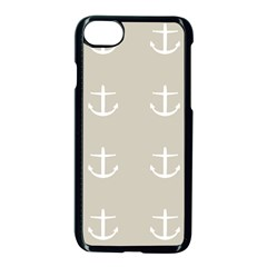 Lt Grey Anchors Apple Iphone 7 Seamless Case (black)