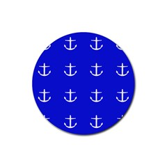 Royal Anchors Rubber Round Coaster (4 Pack)  by snowwhitegirl