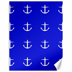 Royal Anchors Canvas 12  X 16   by snowwhitegirl