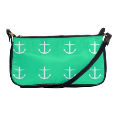 Seafoam Anchors Shoulder Clutch Bags by snowwhitegirl