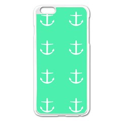 Seafoam Anchors Apple Iphone 6 Plus/6s Plus Enamel White Case by snowwhitegirl