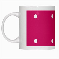 Small Pink Dot White Mugs by snowwhitegirl