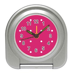 Small Pink Dot Travel Alarm Clock by snowwhitegirl