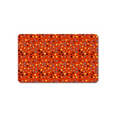 Red Retro Dots Magnet (name Card) by snowwhitegirl