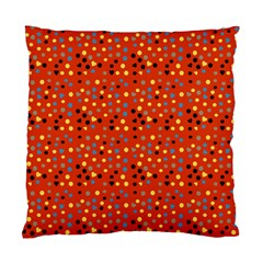 Red Retro Dots Standard Cushion Case (two Sides) by snowwhitegirl
