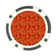 Red Retro Dots Poker Chip Card Guard (10 Pack)