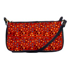 Red Retro Dots Shoulder Clutch Bags by snowwhitegirl