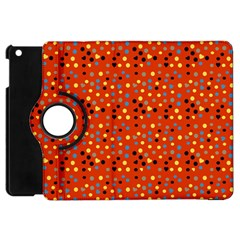 Red Retro Dots Apple Ipad Mini Flip 360 Case by snowwhitegirl