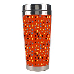 Red Retro Dots Stainless Steel Travel Tumblers by snowwhitegirl