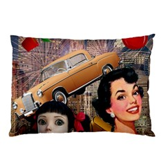 Out In The City Pillow Case by snowwhitegirl