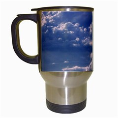 In The Clouds Travel Mugs (white) by snowwhitegirl