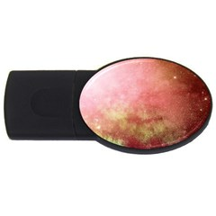 Galaxy Red Usb Flash Drive Oval (4 Gb) by snowwhitegirl