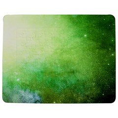 Galaxy Green Jigsaw Puzzle Photo Stand (rectangular) by snowwhitegirl