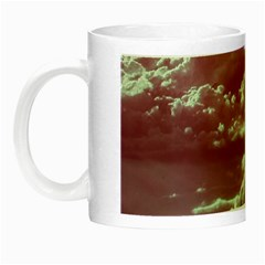 In The Clouds Pink Night Luminous Mugs by snowwhitegirl