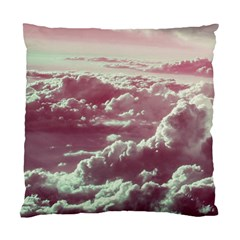 In The Clouds Pink Standard Cushion Case (two Sides) by snowwhitegirl