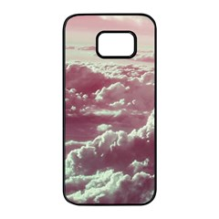 In The Clouds Pink Samsung Galaxy S7 Edge Black Seamless Case by snowwhitegirl