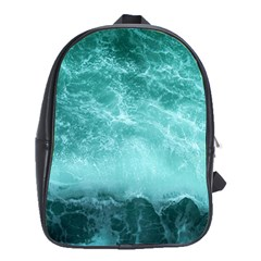Green Ocean Splash School Bag (large) by snowwhitegirl