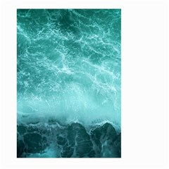 Green Ocean Splash Large Garden Flag (two Sides) by snowwhitegirl
