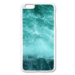 Green Ocean Splash Apple Iphone 6 Plus/6s Plus Enamel White Case by snowwhitegirl