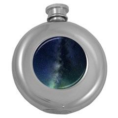 Galaxy Sky Round Hip Flask (5 Oz) by snowwhitegirl