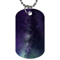 Galaxy Sky Purple Dog Tag (two Sides) by snowwhitegirl