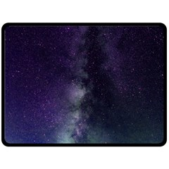 Galaxy Sky Purple Fleece Blanket (large)